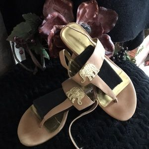 Charming Talbots Gold tone sandals size 6.